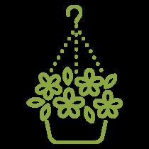 Icône paniers suspendus ou jardinières